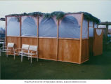 First sukkah constructed at Capitol Hill branch of Bikur Cholim, Seattle, October 1989