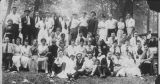 Julius Deutsch at large group picnic, ca. 1910 -1912