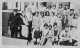 Deutsch and Friedman family gathering at Des Moines Park, Alki Beach, Seattle, ca. 1927-1929
