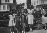 Herzl Sunday School teachers in front of Herzl school class, Seattle, ca. 1936