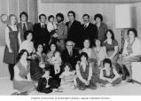 Marco Calvo's 80th birthday with children and grandchildren, Seattle, 1977