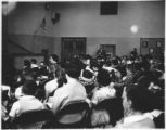Assembly at Temple Beth Am nursery and religious school at View Ridge School, ca. 1959