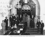Sephardic Bikur Holim mens' group, Seattle, 1953