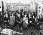 Group portrait of residents of the Caroline Kline Galland Home, 1955