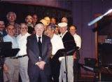 Recording session for High Holy Days melodies with original Bikur Cholim Congregation Choir at...