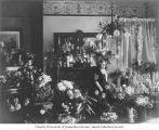 Esther Levy on her 75th birthday surrounded by flowers, Seattle, September 28, 1914