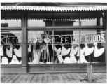 Window display at George Wolff's dry goods store in Aberdeen, ca. 1903