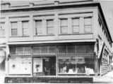 Exterior of George Wolff's dry goods store in Aberdeen, ca. 1904