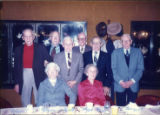 Group at banquet for 50th reunion, November 11, 1985