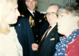 Hillary Clinton, Sandy Friedman, and others at opening of Holocaust Museum in Washington D.C.,...