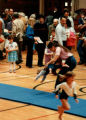 Childrens tumbling class exhibition at North End Branch Jewish Community Center opening day...