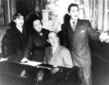 Denise Darcel and Billy Gould with Al Hoffman (at piano) and Jeff Slary, 1949