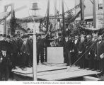 Cornerstone laying ceremony for Temple De Hirsch on Boylston Ave., Seattle, 1901