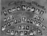 Collage of photographs from Tientsin Jewish School depicting the Parents Committee, Medical...