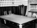 Billiard table in Shafer family home at 907 14th Ave. E., Seattle, ca. 1930s