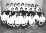 Group of young women in Dai-Bons Jewish High School Sorority, 1958
