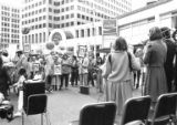 Demonstration for Ida Nudel's birthday at Westlake Park, Seattle, 1986