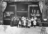 Rickles family at Red Front Furniture Store, Seattle, ca. 1908-1919