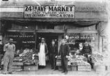People in front of 24th Ave. Market, 2401 Yesler Way, Seattle, 1934
