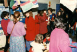 Attendees at Seattle Jewish Primary School recruitment open house, 1991