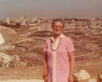 Gussie at the Mount of Olives in Israel, 1976