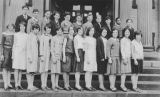Horace Mann School graduating 8th grade class, June 1930