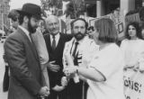 Judy Balint and others at rally in support of Soviet Jewry, probably Seattle, circa 1986