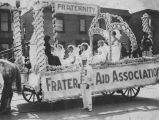 Fraternal Aid Association float in the Seattle Potlatch Parade, Seattle, ca. 1912