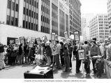 Seattle Action for Soviet Jewry rally supporting Soviet refusenik Ida Nudel at Westlake Mall,...