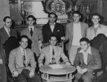 B'nai B'rith young men in Temple De Hirsch executive board room, Seattle, 1947