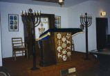 Congregation Beth Hatikvah sanctuary with bimah and ark, Bremerton, ca. 1992-1993