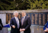 Henry Friedman (left) and Washington Governor Mike Lowry gathered together for Yom HaShoah...