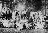 Group of young people gathered at the Hebrew Immigrant Aid Society (HIAS) house, Seattle, ca....