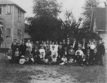 Group gathered at the Hebrew Immigrant Aid Society (HIAS) house, Seattle, ca. 1914-1918