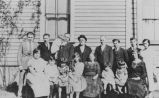 Israel family celebrating the engagement of Morris and Gentil Israel, Seattle, summer 1924