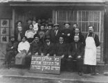 Aaron Dubson (far left, seated) with a Zionist group in Harbin, China, ca. 1913