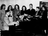University of Washington Hillel Choir accompanied by Charles Stasny on the piano, Seattle, ca. 1946
