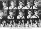 Sequence of images of Albert and Emma Adatto as children, ca. 1910s