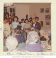 Mr. Samuel E. Goldfarb and members of the Temple de Hirsch Junior Choir at the Kline-Galland Home,...