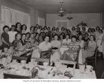 Alphi Epsilon Phi sorority group at banquet, Seattle, circa 1937