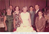 Esther Marshin Lighter (center) celebrating 65th birthday with family, Seattle, Washington, April...