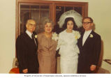 Wedding of Hilda and Richard Tall (right) with the groom's parents Harry and Della Tall, Seattle,...