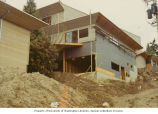 Construction of Herzl-Ner Tamid synagogue, Mercer Island, Washington, 1970
