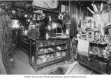 Moe Michelson and his mother Etta Michelson in their store, Riverside Junk Co., Everett,...