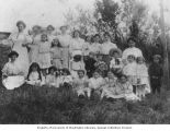 Mosler and Rickles family members at birthday celebration, Seattle, Washington, ca. 1908