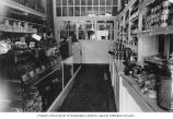 Mosler Health Products interior with Grace Mosler Pruzan behind counter, 618 Union St., Seattle,...