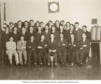 Group portrait of members of B'nai B'rith AZA (Aleph Zadick Aleph), Seattle, Washington, 1933