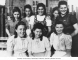 Group of girls in forced labor camp, probably Poland, ca. 1940-1945