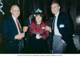 Ernest (Ernie) Stiefel (left) with Shirley and Murray Guterson at Congregation Beth Shalom...