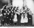 South School 7th grade class portrait, Seattle, Washington, 1889